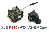 HGLRC XJB F440 TX20-V2 ELF All-in-One TOWER 20x20mm FC, ESC, VTX, CAMERA