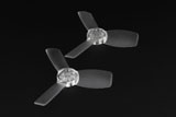 Emax Babyhawk 87mm replacement T2345 Propeller 10x CW and 10x CCW - CLEAR