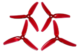 HQ Prop Durable Tri-Blade Propeller 4x4.3x3V1S Light Red 2x CW, 2x CCW
